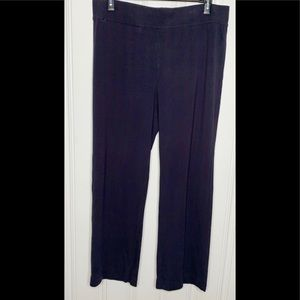 Lands' End Navy Blue Knit Pull On Pants L(14-16)